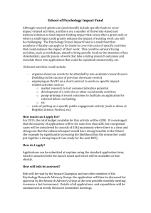 School Impact Fund Procedures