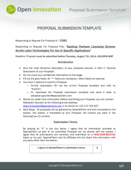 Responding to Request For Proposal N°: 0381