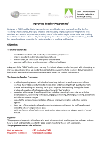 Improving Teacher Programme - Benfleet Teaching School Alliance