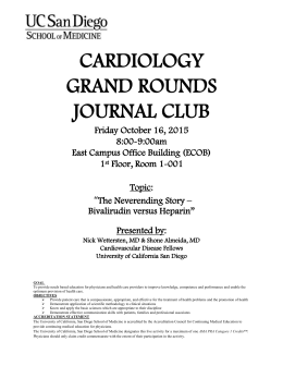 GR Oct 16, 2015 - Division of Cardiovascular Medicine