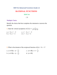 MHF 4U Rational Functions Test 16