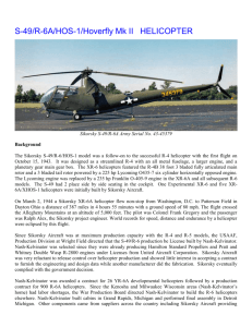 S-49 R-6 History Final - Igor I. Sikorsky Historical Archives