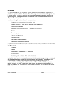 Massage Therapy Consent Form