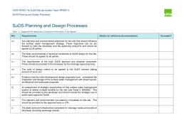 SuDS Planning and Design Processes