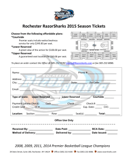 2015 Season Ticket Form