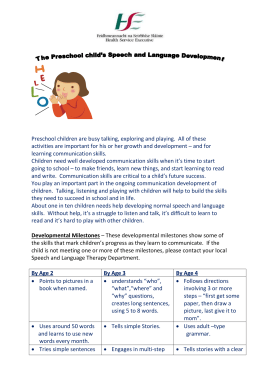 Speech and Language Therapy leafletandform