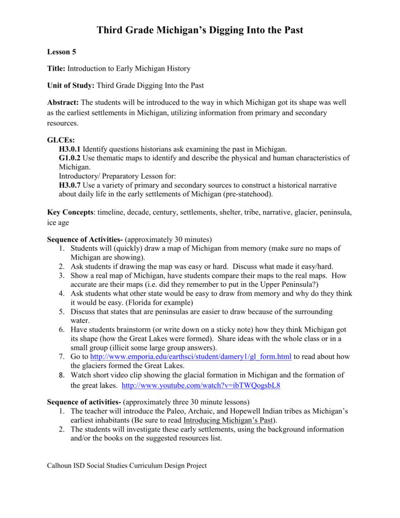 Lesson 5 - Calhoun ISD Social Studies Curriculum Site