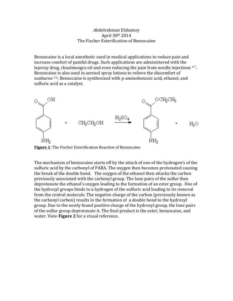 preparation of an ester lab report