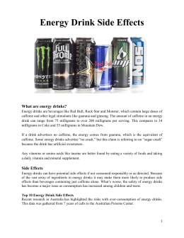 Energy Drink Side Effects Brochure