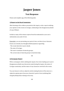 Jasper Jones Text Response Sheet