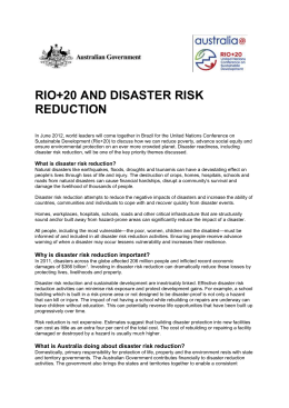 Rio+20 and Disaster Risk Reduction factsheet (DOCX
