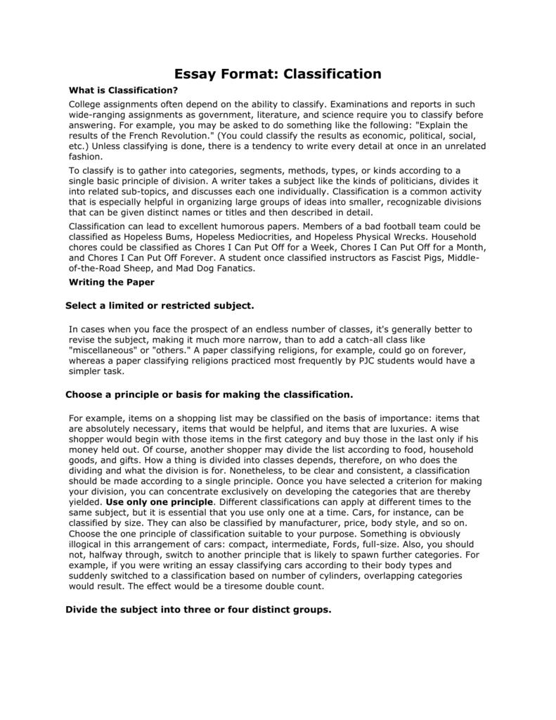 churchgoers classification essay