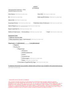 AGENCY LETTERHEAD CW Assessment Summary – FY15