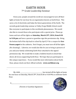 EARTH HOUR 7th Grade Leadership Seminar