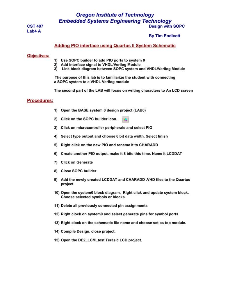 Block Diagram Quartus 2 - Wiring Diagrams List
