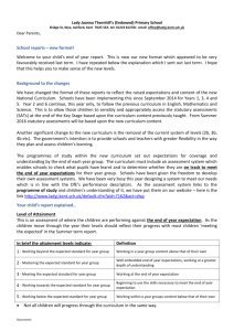 2015 Summer Reports Letter - Lady Joanna Thornhill Primary School
