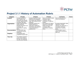Project 3.1.1 History of Automation Rubric