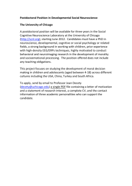 Postdoctoral Position in Developmental Social Neuroscience The