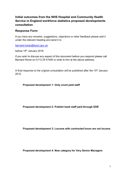Initial outcomes feedback document