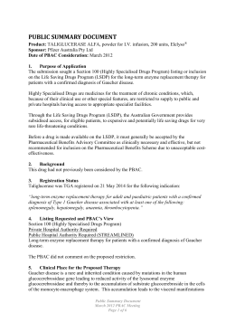 Public Summary Document (PSD) March 2012 PBAC Meeting