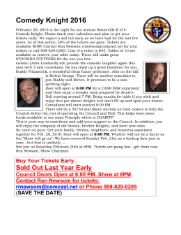 Comedy Night 2016 - Somerville Knights of Columbus Council 1432