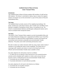 Green Transport Policy - Guildhall School of Music and Drama
