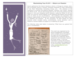 Maximizing Your ROP – Return on Passion
