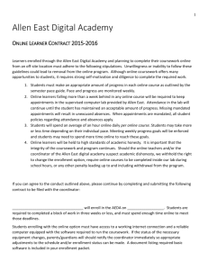 Online Learner Contract 2015-2016