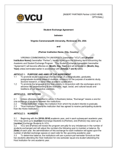 Student Exchange Agreement Template