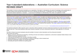 The Australian Curriculum achievement standards are an