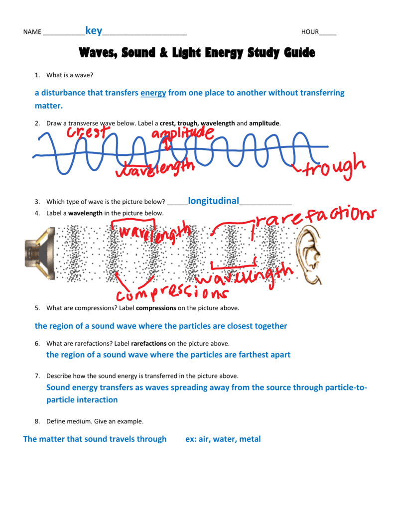 Worksheet Waves Sound And Light Worksheet Answers Carlos Lomas