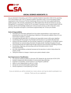 Social Science First Year Associate(1) - Co