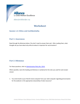 1.4 Ethics and Confidentiality Worksheet