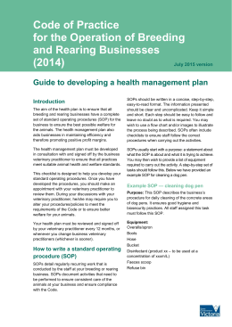 Guide to developing a health management plan [MS