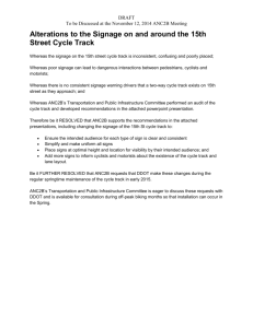 15th Street Cycle Track SIgnage Alterations