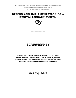 DESIGN AND IMPLEMENTATION OF A DIGITAL LIBRARY SYSTEM