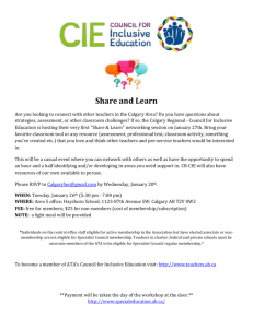 Calgary Area is hosting a Learn and Share