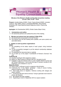 Minutes - Women`s Health and Equality Consortium