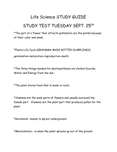 Life Science STUDY GUIDE STUDY TEST TUESDAY SEPT. 25th