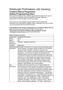 Gallery Programming Intern