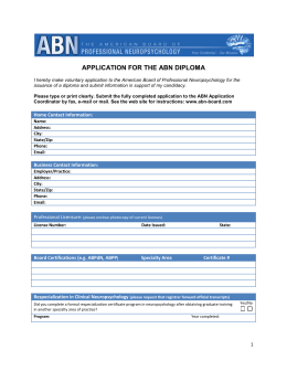 ABN Application (download *)