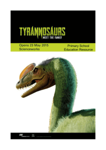What is a tyrannosaur?