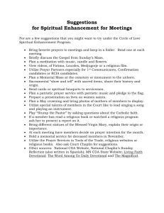 Suggestions for Spiritual Enhancement at Meetings