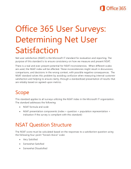 Determining Net User Satisfaction