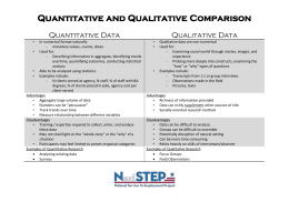 Quantitative and Qualitative Data Collection