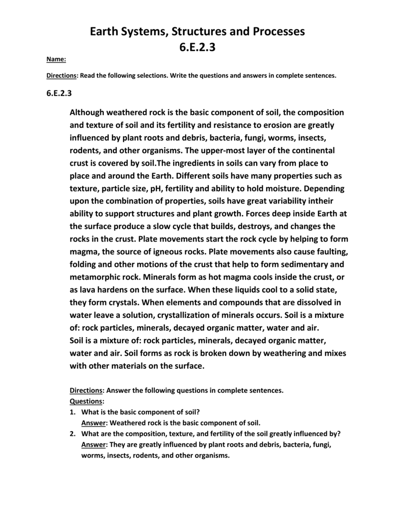 Soil Texture Worksheet Answers - Escolagersonalvesgui