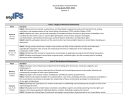 Social Studies: US Government Pacing Guide 2015