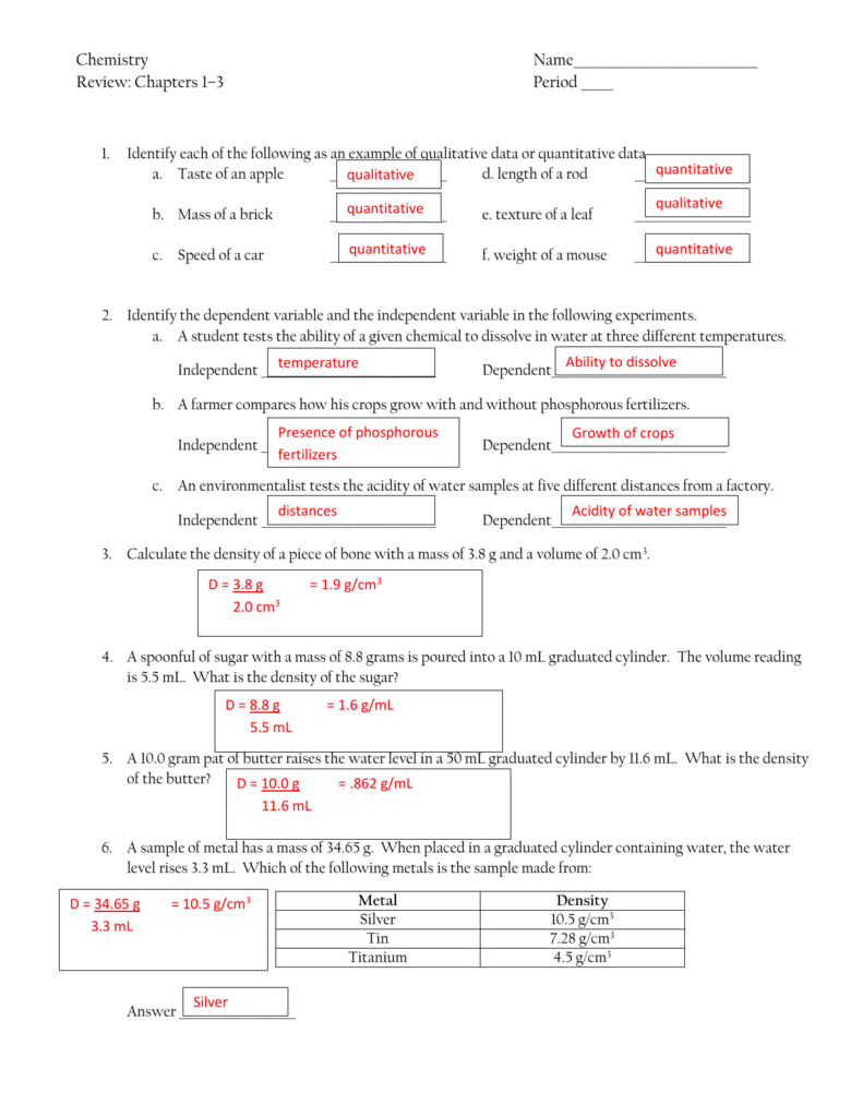 Chapters 1 to 3 Review.answers