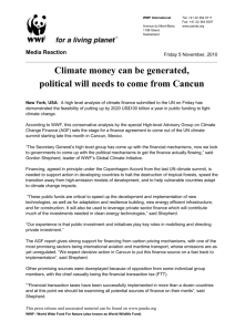 Climate money can be generated, political will needs to