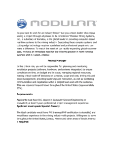 Modular Mining Systems Inc, a world leader in the design and